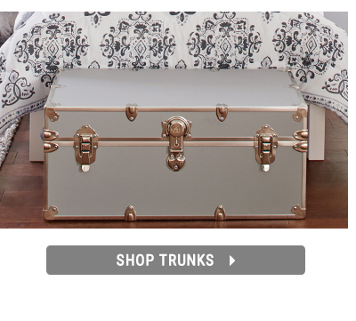 Shopping for dorm storage and trunks.