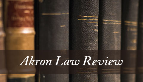 Akron Law Review banner