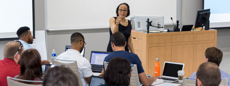 Professor Willa Gibson teaching at The University of Akron School of Law.