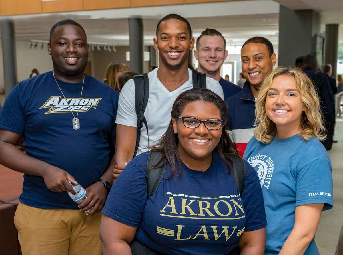 Law students at The University of Akron