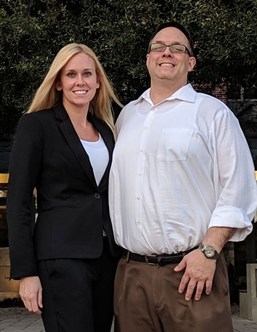 Christina McCrossin and David Wolfram from Akron Law