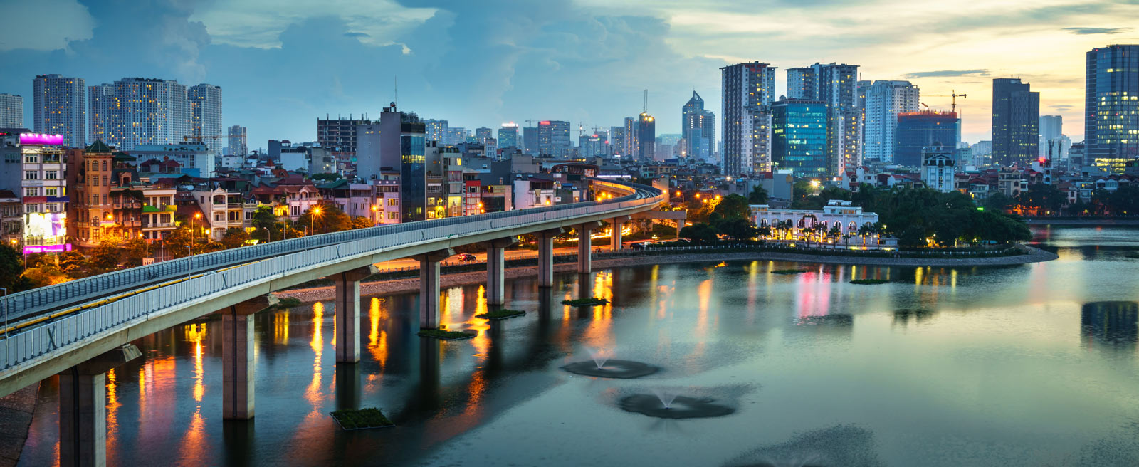 The skyline of Hanoi, Vietnam