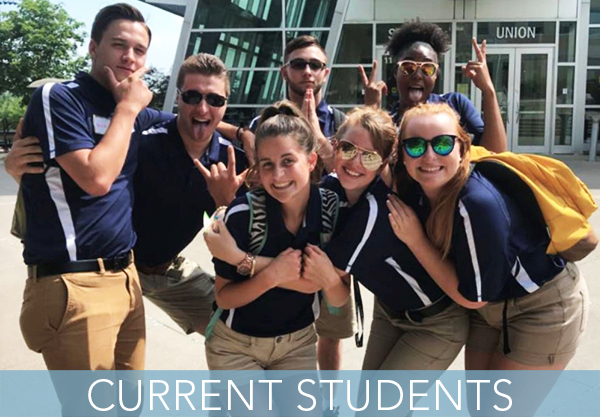 Current student New Student Orientation leaders