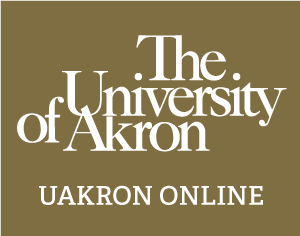A student enrolled in UAkron Online at home participating in class