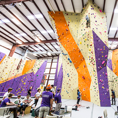 People climbing at Vertical Adventures
