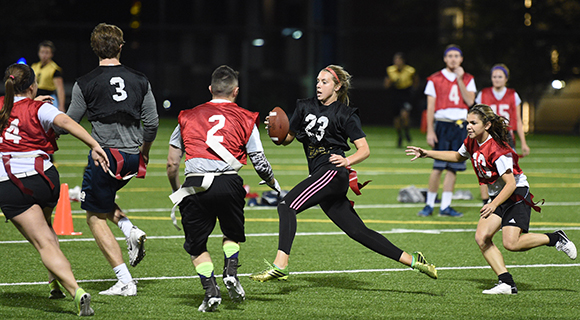 Image of people playing flag football
