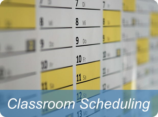 Link to information for classroom scheduling