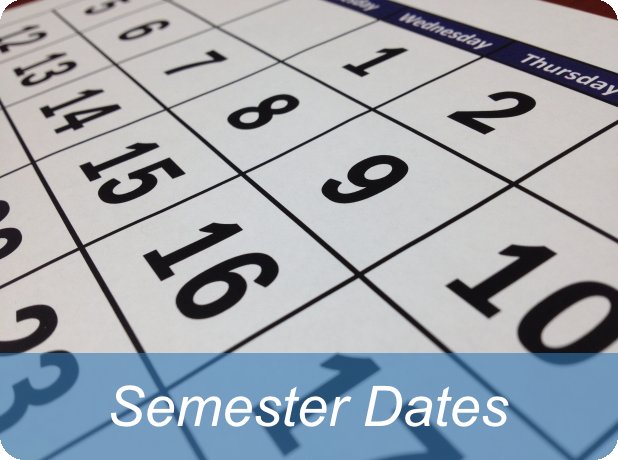Link to list of semester dates