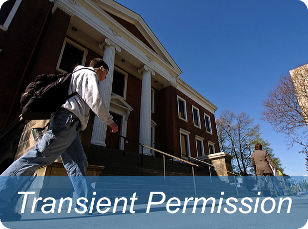 Link to transient permission information page