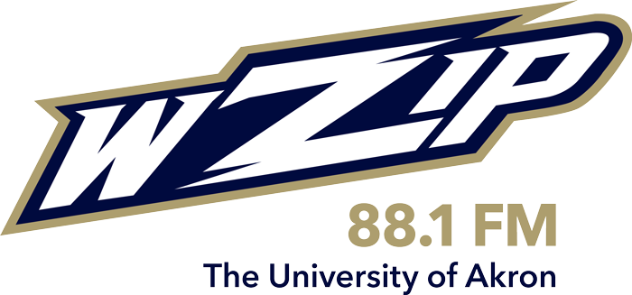 The University of Akron student run radio station, WZIP 88.1FM logo.