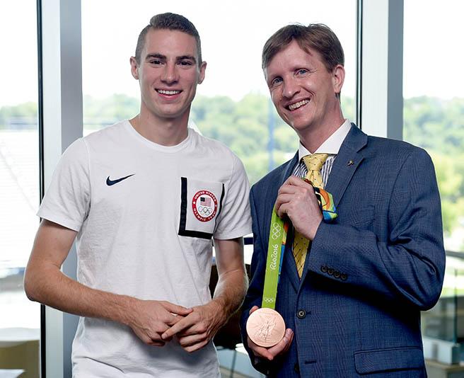 With Clayton Murphy, bronze medalist