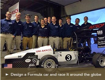 Design a Formula car and race it around the globe