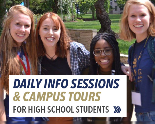 Daily information sessions and campus tours for high school students
