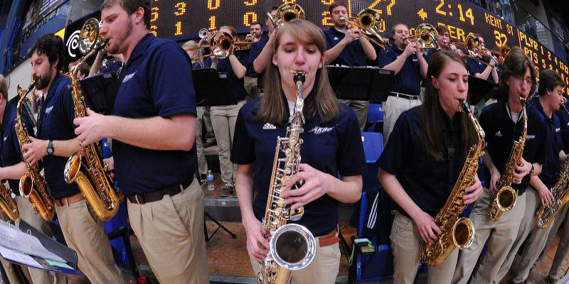 Basketball Blue and Gold Brass Band