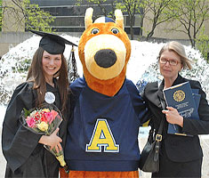 A graduate with Zippy