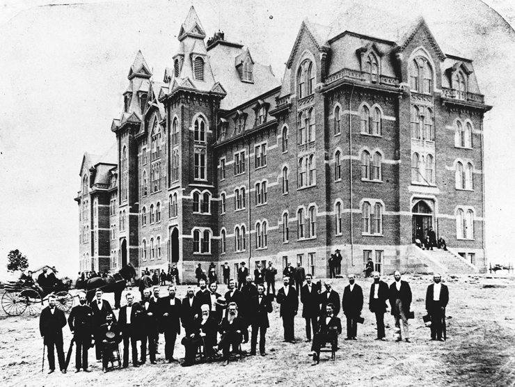 Buchtel College in 1872