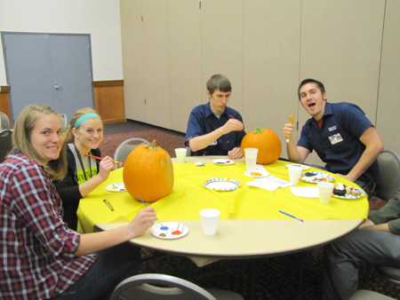 Student Life Pumpkin Decorating