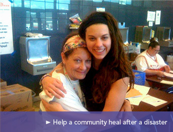 Help a community heal after a disaster