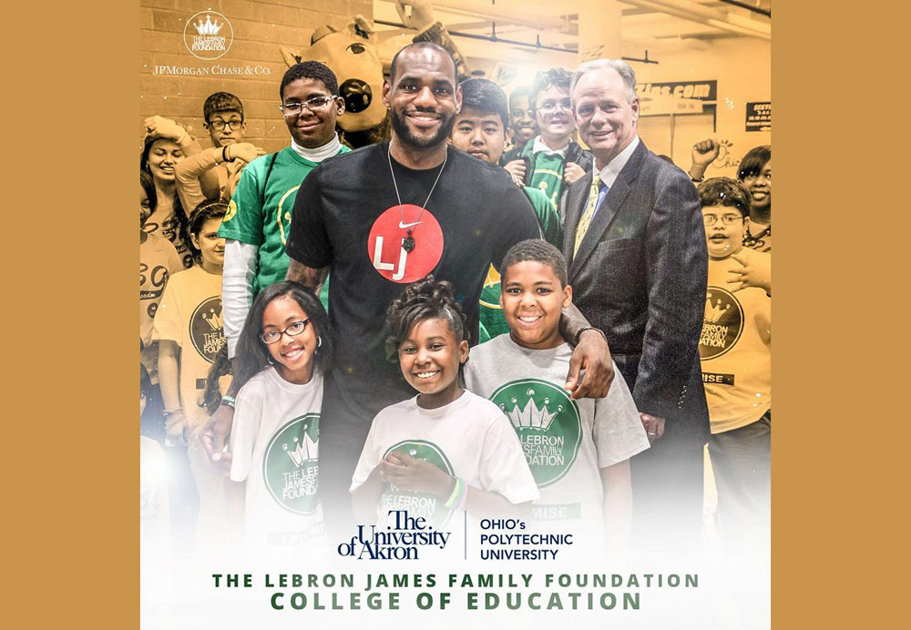UA president, LeBron announce scholarships for Akron children