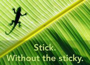 Stick. Without the sticky.