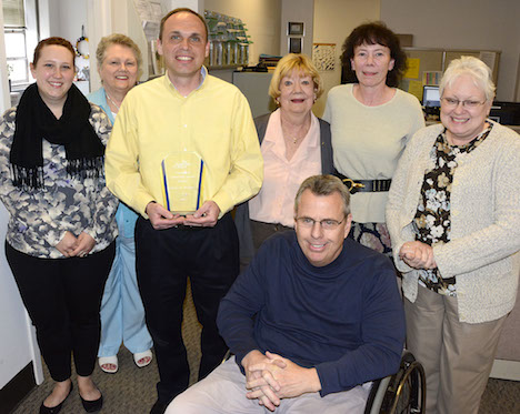 Kevin Tondra receives Exemplary Service Award