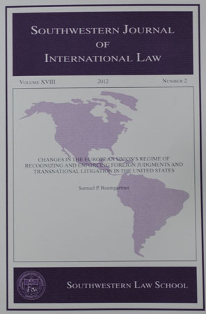 Southwestern Journal of International Law