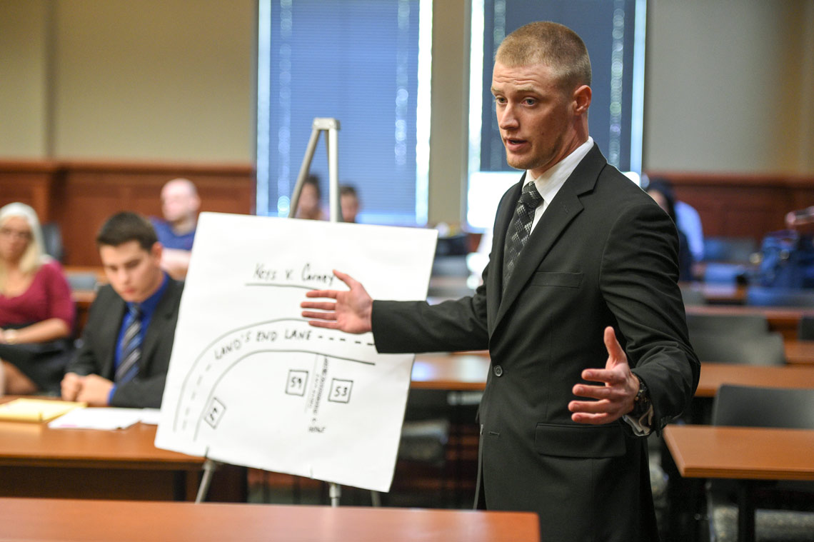 Akron Law Student at Trial