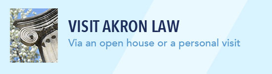 Visit Akron Law during an open house