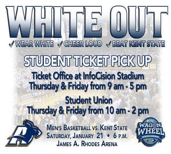 Graphic: Akron vs. Kent on Saturday, Jan. 21