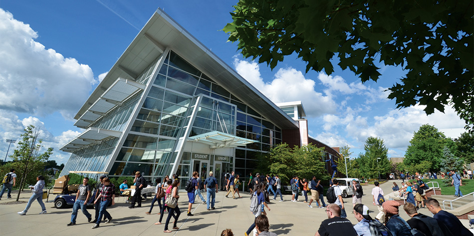 Student Union exterior | Visit the University of Akron