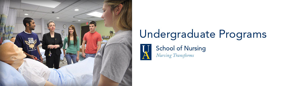 Undergraduate programs in UA's College of Nursing