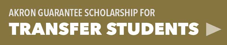 Learn about the Akron Guarantee Scholarship for transfer students