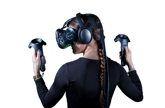 Lady Using Virtual Reality